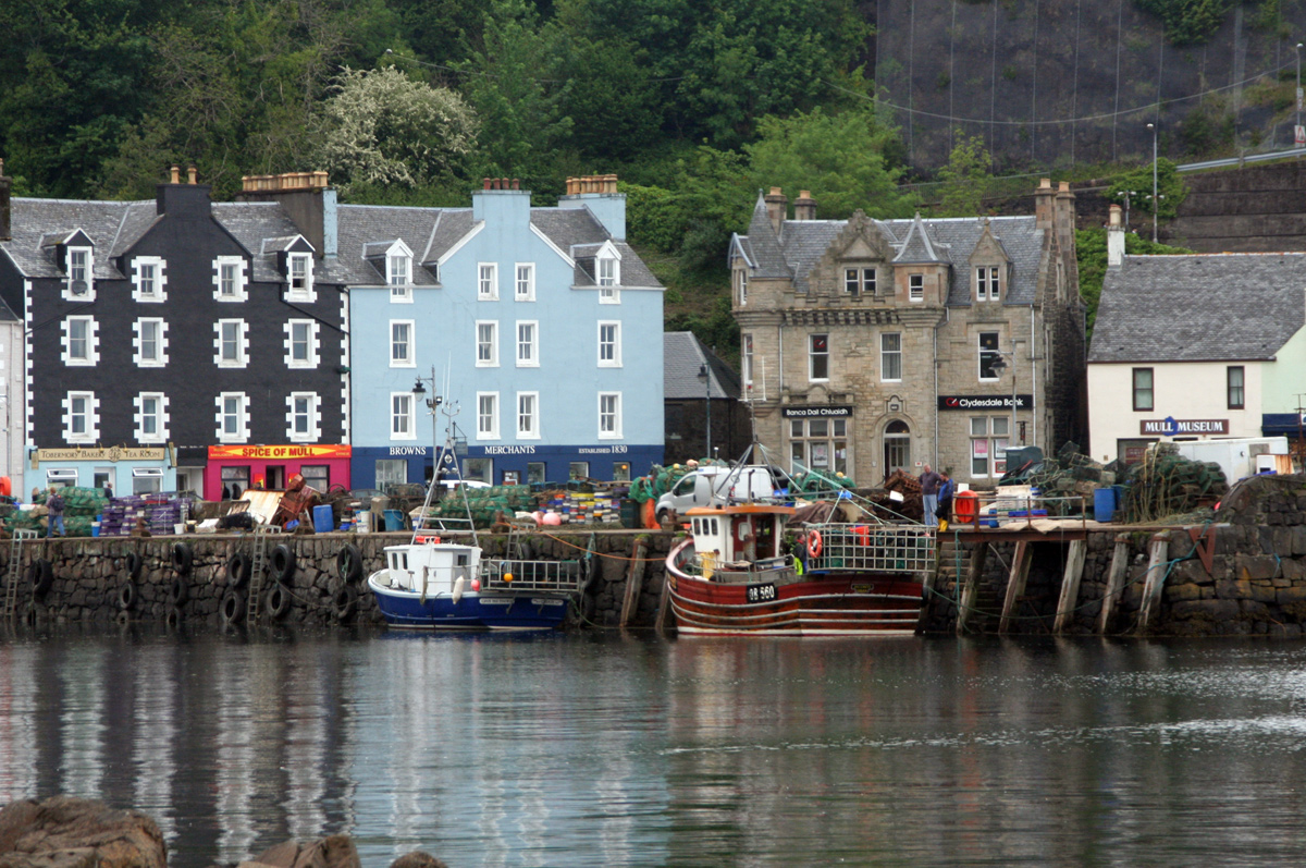 Tobermory in the isle of Mull