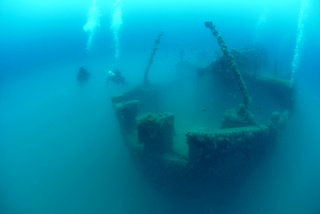 Ship-wreck in Umag (Croatia)