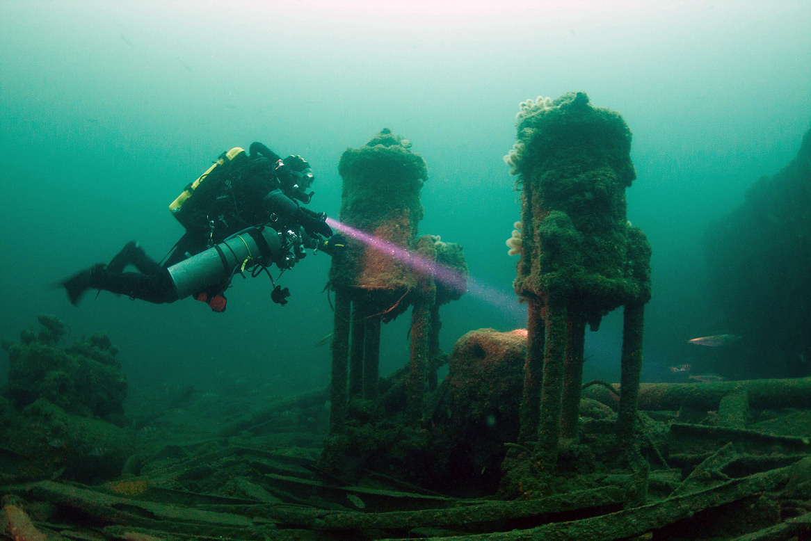 Shipwreck dive in Donegal, Ireland