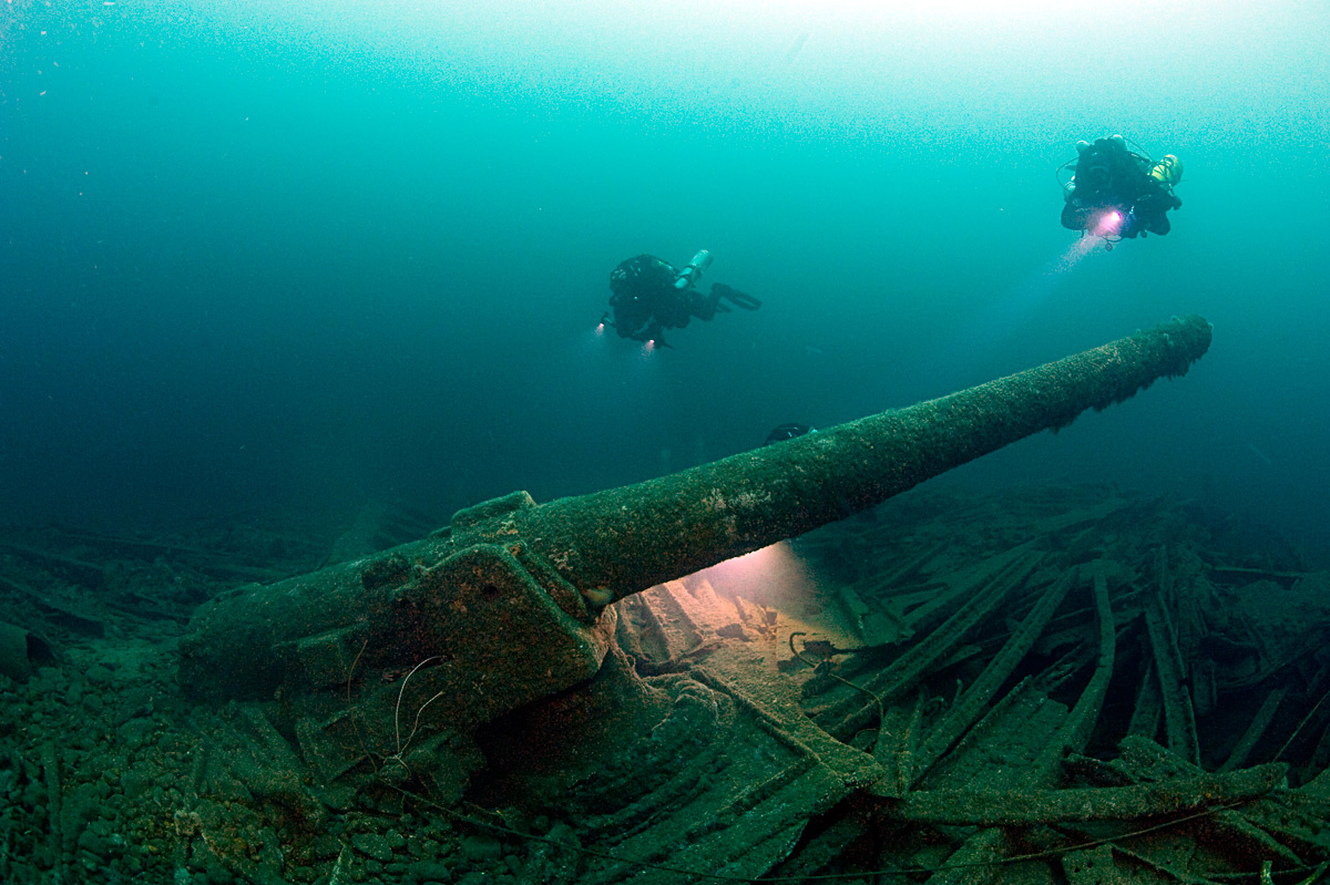 The Laurentic shipwreck. Photo by Barry McGill