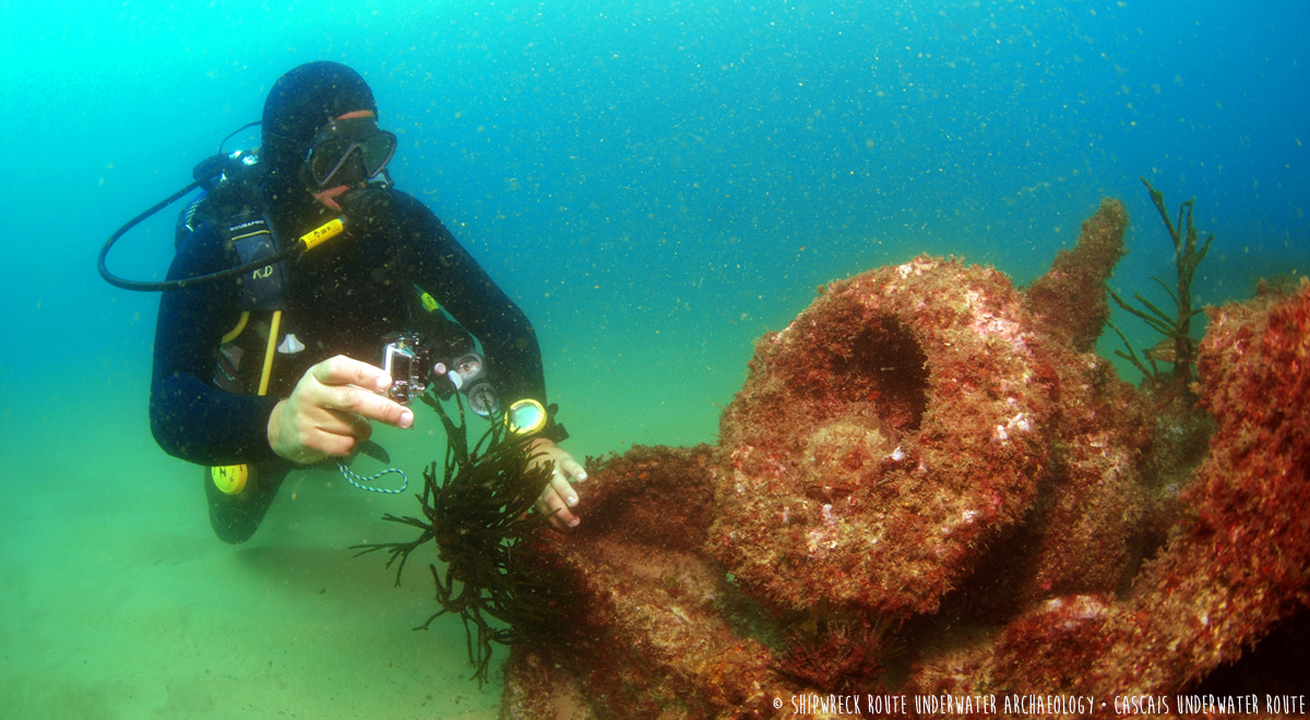 The SS Hildebrand shipwreck diving site (Cascais, Portugal) · WAOH! Route