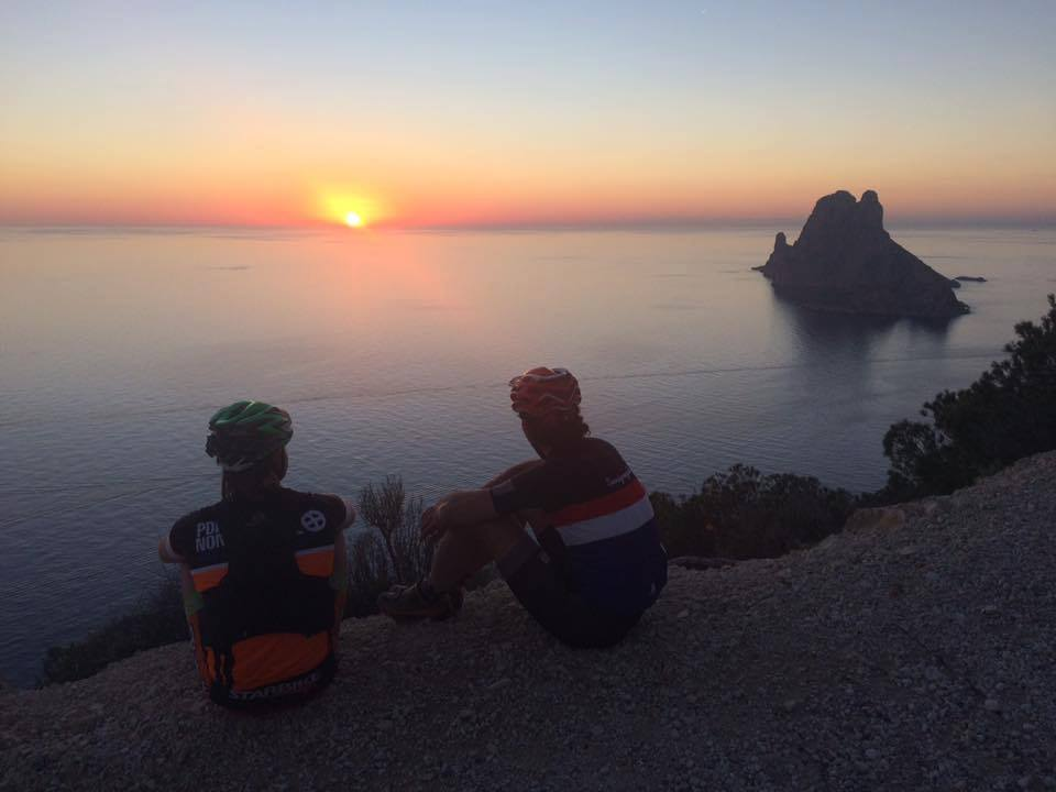 Bike tour along the coast in Ibiza (Balearic Islands, Spain)