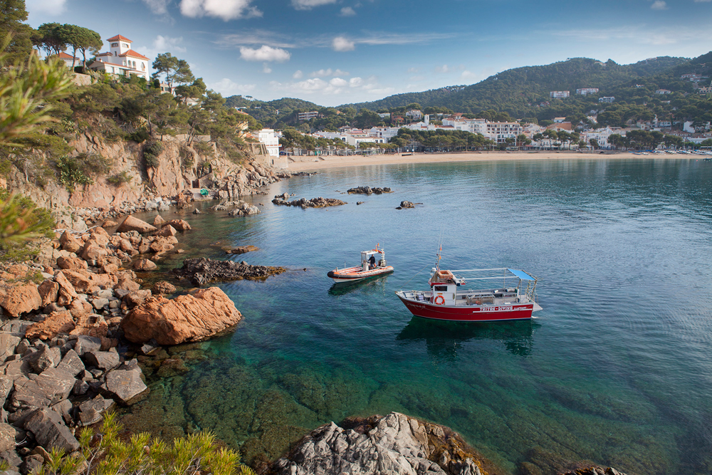 Coastal snorkeling route in Palafrugell (Catalonia, Spain)
