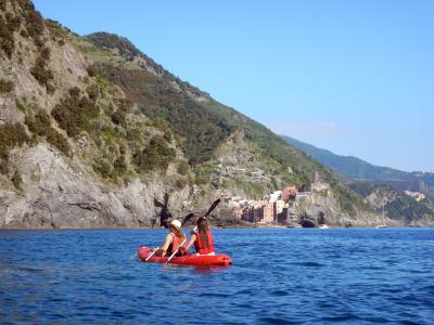 Kayaking in Cinque Terre National Park (Liguria, Italy)