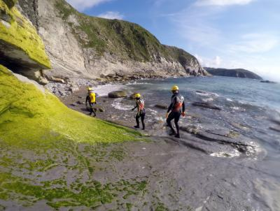 Coasteering in Gorliz (Basque Country, Spain)